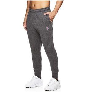 K SwissMens Fleece Jogger Sweat Pants Grey Small